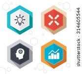 hexagon buttons. lamp idea and... | Shutterstock .eps vector #314605544