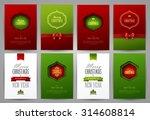 set of christmas brochures... | Shutterstock .eps vector #314608814