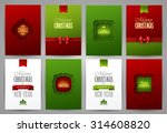 set of christmas brochures... | Shutterstock .eps vector #314608820