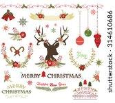 merry christmas christmas... | Shutterstock .eps vector #314610686