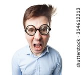 angry young man shouting | Shutterstock . vector #314612213