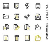 document web icons set   Shutterstock .eps vector #314614766