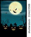 halloween night  vector... | Shutterstock .eps vector #314615588