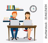 business office and human... | Shutterstock .eps vector #314615654