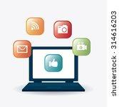 digital and social marketing...   Shutterstock .eps vector #314616203
