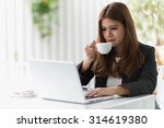 asia young business woman... | Shutterstock . vector #314619380