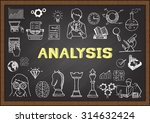 doodle about analysis on... | Shutterstock .eps vector #314632424