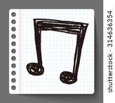 doodle note | Shutterstock .eps vector #314636354