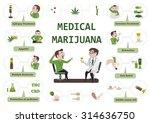 benefits of marijuana... | Shutterstock .eps vector #314636750