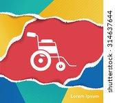 wheelchair icon | Shutterstock .eps vector #314637644