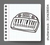 keyboard doodle | Shutterstock .eps vector #314638004