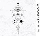 vector geometric alchemy symbol ... | Shutterstock .eps vector #314640620