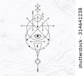vector geometric alchemy symbol ... | Shutterstock .eps vector #314641238