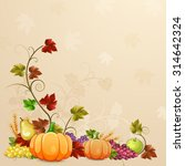 autumn illustration for... | Shutterstock .eps vector #314642324