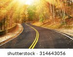 Autumn Scene With Road In...