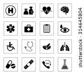 medical icons set | Shutterstock .eps vector #314645804