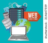 Web Hosting Concept With Cloud...