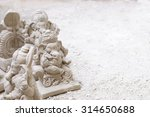 ganesh idols. white on white. | Shutterstock . vector #314650688