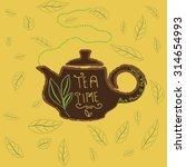 tea time design template. tea...   Shutterstock .eps vector #314654993
