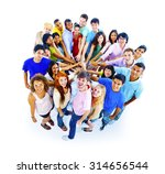 large group of people community ... | Shutterstock . vector #314656544