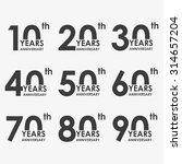 anniversary icon set.... | Shutterstock .eps vector #314657204