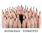 one sharpened black pencil...   Shutterstock . vector #314661923