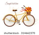 Autumn Bicycle With Colorful...