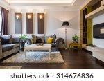 interior of a living room in... | Shutterstock . vector #314676836