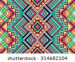 abstract geometric ethnic... | Shutterstock .eps vector #314682104