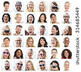 collage diverse faces... | Shutterstock . vector #314685449