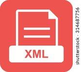 xml  file  website icon vector... | Shutterstock .eps vector #314687756
