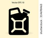 flat jerrycan icon. vector   Shutterstock .eps vector #314698463