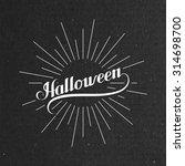 halloween. holiday vector... | Shutterstock .eps vector #314698700