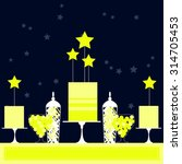 night candy buffet with stars....   Shutterstock .eps vector #314705453