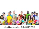 large group of international... | Shutterstock . vector #314706710