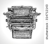 vintage typewriter isolated on... | Shutterstock .eps vector #314712143