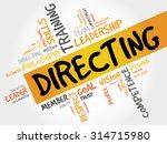 directing word cloud  business...   Shutterstock .eps vector #314715980