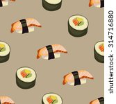 seamless  pattern with sushi...   Shutterstock .eps vector #314716880