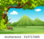 nature scene with moutains in... | Shutterstock .eps vector #314717600