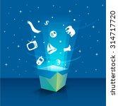 vector abstract open surprise... | Shutterstock .eps vector #314717720