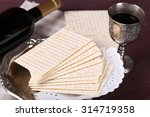 Matzo For Passover With Metal...