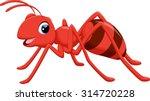 illustration of ant cartoon on...