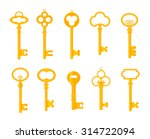 Keys Icons Set  Isolated....