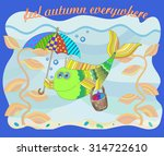 funny fish with colored... | Shutterstock .eps vector #314722610