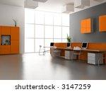 the modern office interior... | Shutterstock . vector #3147259