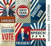 vintage politics mini posters... | Shutterstock .eps vector #314725934