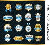 luxury premium shopping labels... | Shutterstock .eps vector #314727029