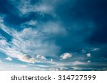blue sky and fluffy clouds ... | Shutterstock . vector #314727599