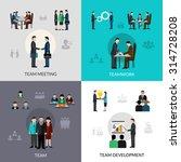 teamwork design concept set... | Shutterstock .eps vector #314728208