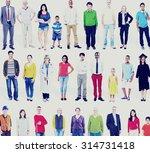 diversity ethnicity variation... | Shutterstock . vector #314731418
